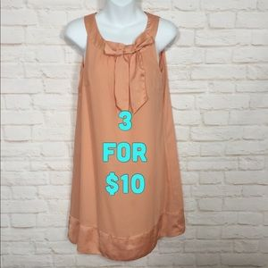 H&M peach colored dress size 8